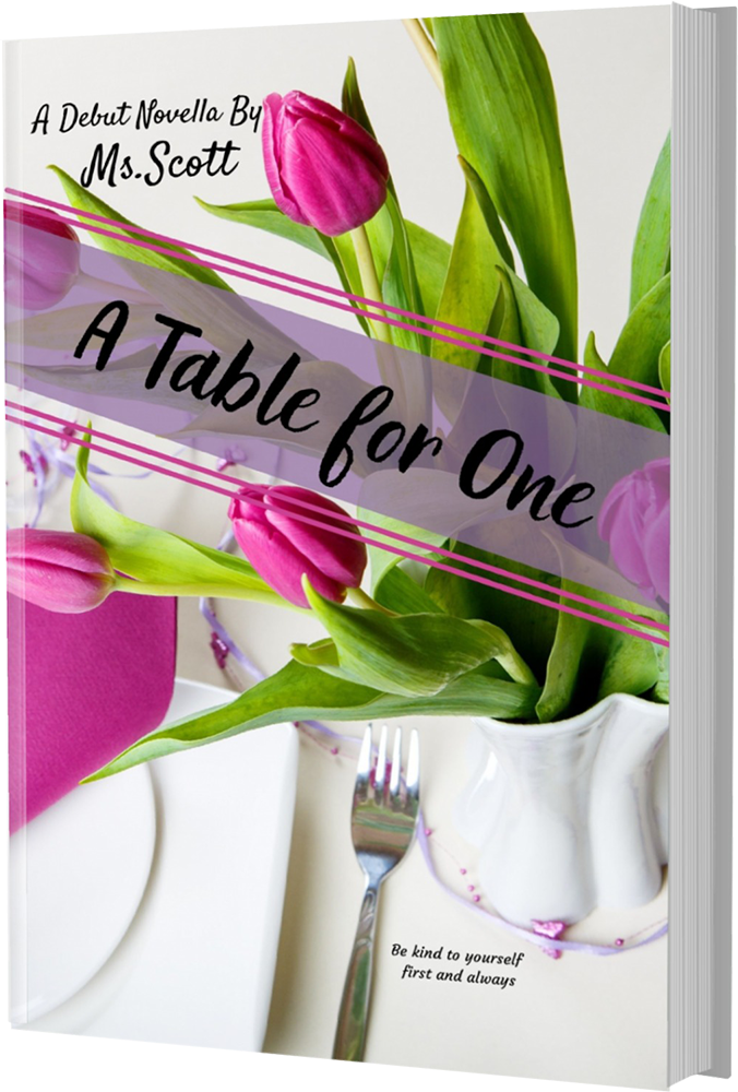 A Table For One Book Mockup